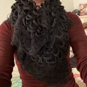 Betsy Johnson lace and loop scarf